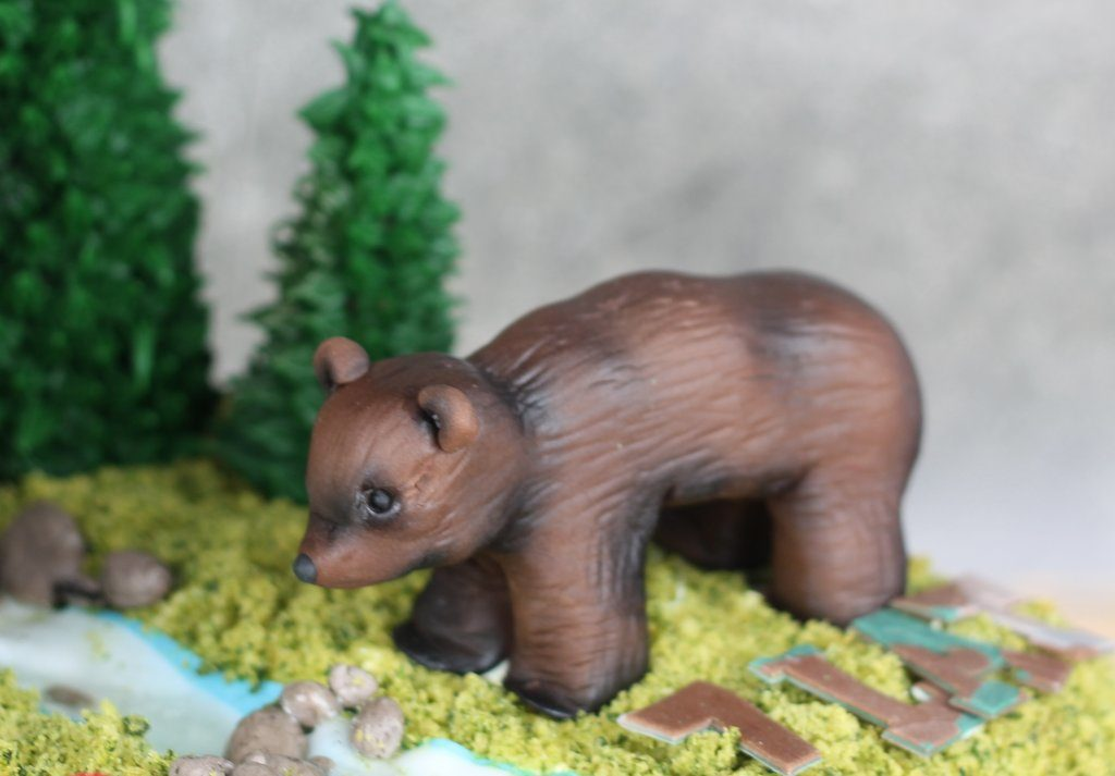 orchideli -Jak zrobić choinkę, niedźwiedzia, wiewiórkę i jeża z lukru