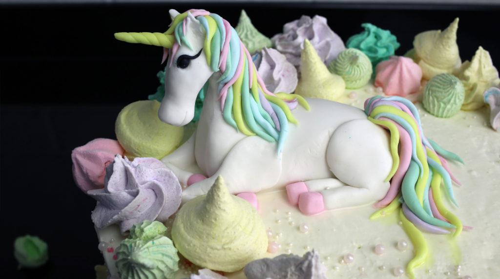 orchideli-Tort urodzinowy z jednorożcem - unicorn cake