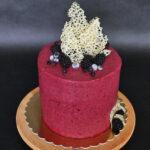 orchideli tort jagodowo-jeżynowy, tort urodzinowy, tort z jeżynami, bez lukru plastycznego, bez masy cukrowej