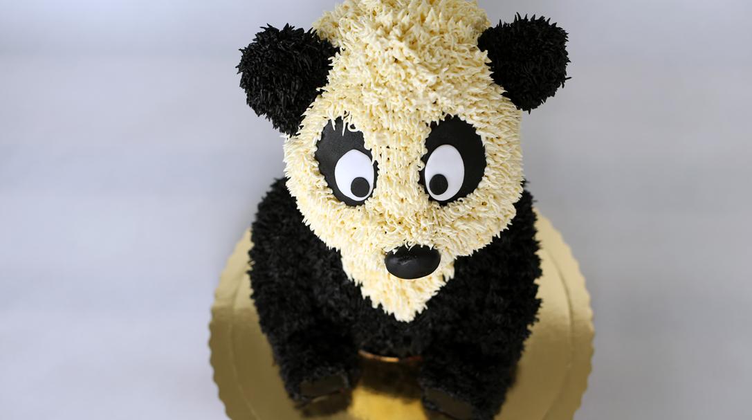 Tort panda miś orchideli tort urodzinowy dla dziecka na roczek
