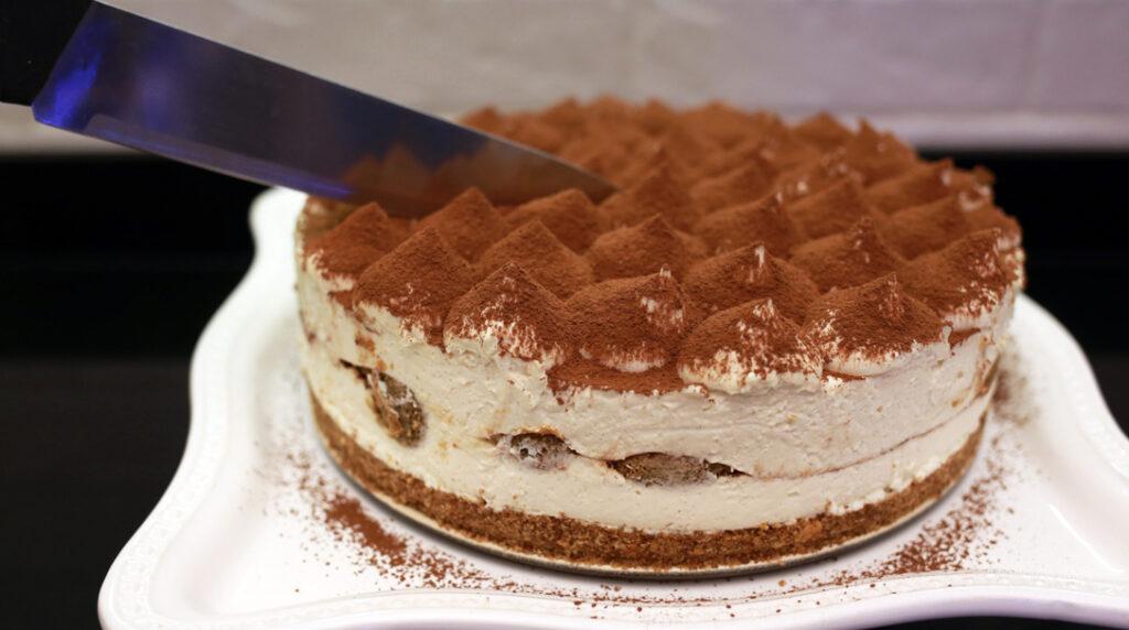orchideli, przepis na tort tiramisu bez pieczenia, ciasto na lato, szybki tort , tort kawowy