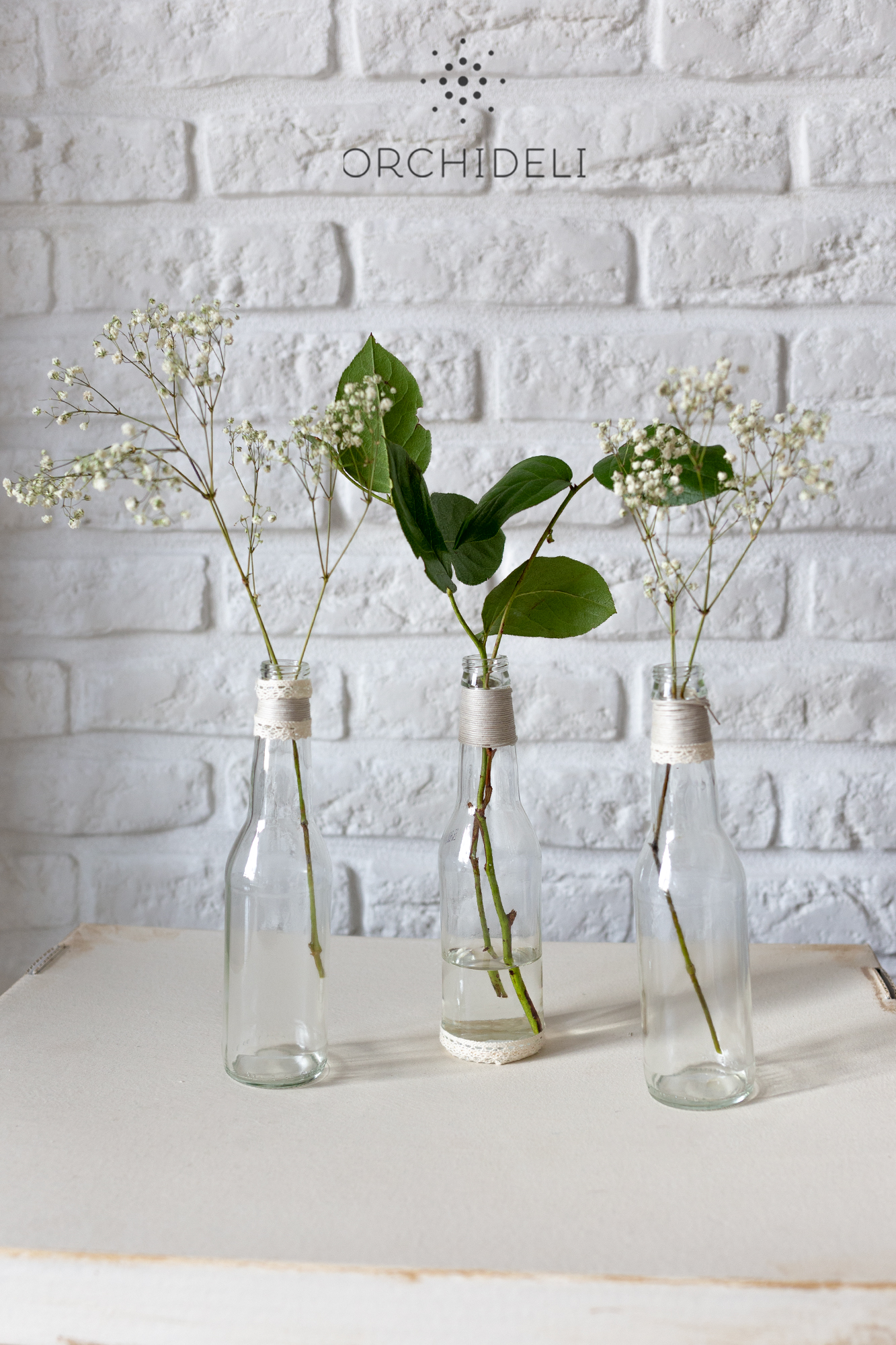 orchideli jak ozdobić butelki