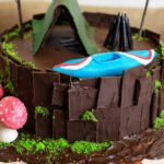 orchideli, tort czekoladowy, tort dla chłopaka