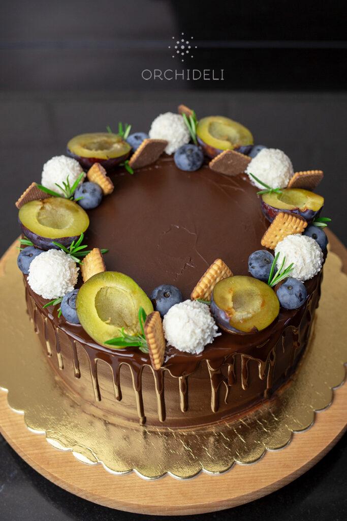 orchideli, przepis na urodzinowy tort