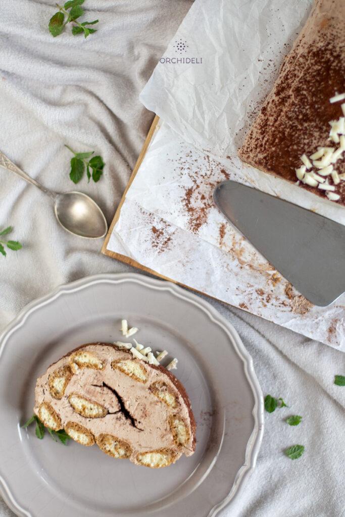 ciasto z kremem cappuccino orchideli