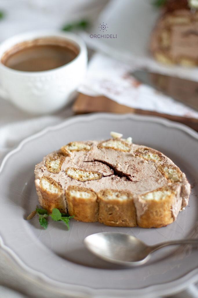 rolada kawowa bez pieczenia z kremem cappuccino orchideli