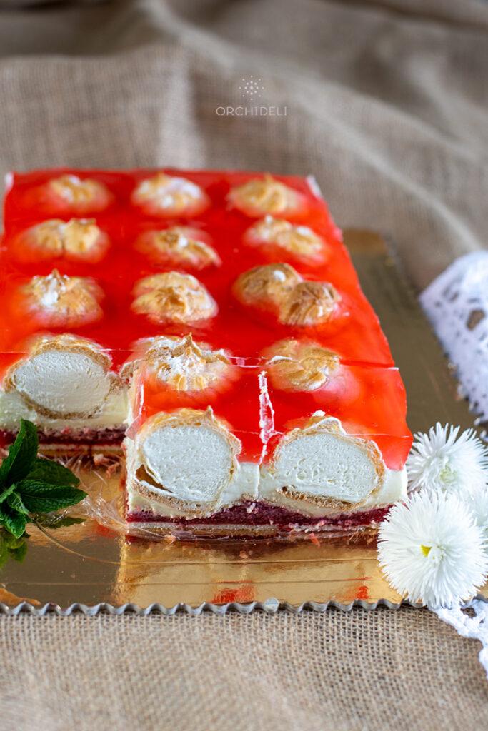 przepis na ciasto z truskawkami, bez pieczenia, przepis orchideli