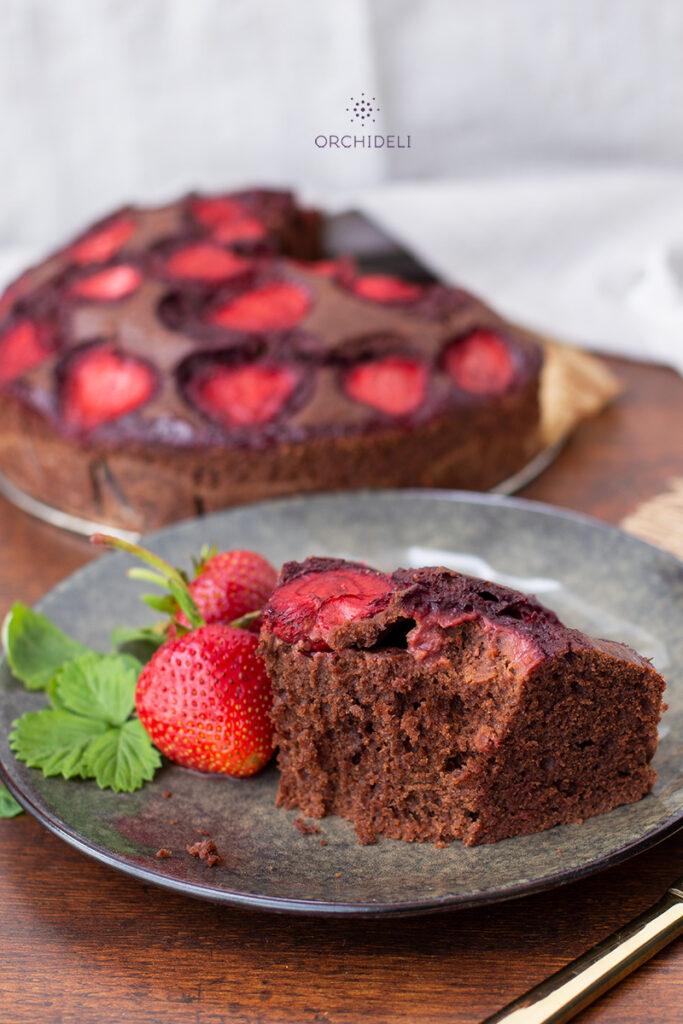 prosty przepis na ciasto czekoladowe z owocami orchideli